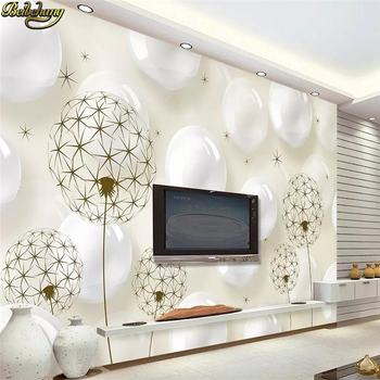 beibehang Custom Mural Wallpaper for Wall Covering Abstract Modern TV Backdrop Ball Dandelion wall papers home decor living room beibehang custom 3d photo landscape mural abstract woods wallpaper for living room study room backdrop wallpaper home decor