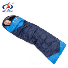 2017 outdoor camping travel envelope style adult cotton thermal portable emergency High quality Four Seasons sleeping bag