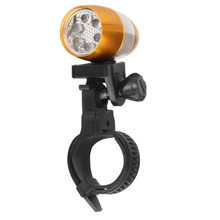 2PCS Waterproof Bright 6 LED Bicycle Bike Front White Head Light Aluminium Alloy Mini Safety Cycling