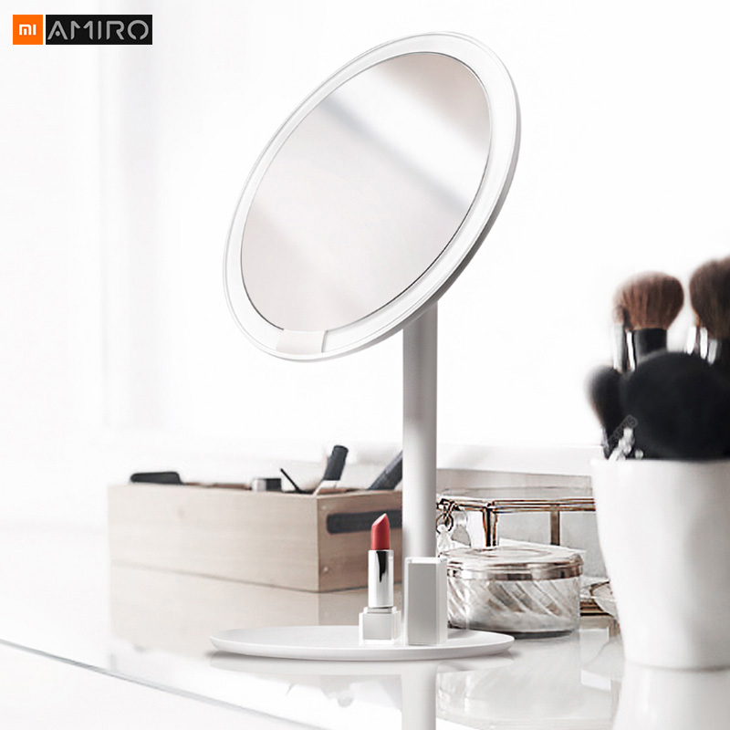 Xiaomi Mijia AMIRO HD miroir Dimmable comptoir réglable 60 degrés tournant 2000 mAh lumière du jour maquillage cosmétique Led miroir 2