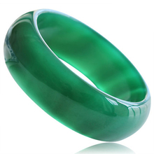 Free Shipping upscale boutique thickened green agate bracelet jade female models gift