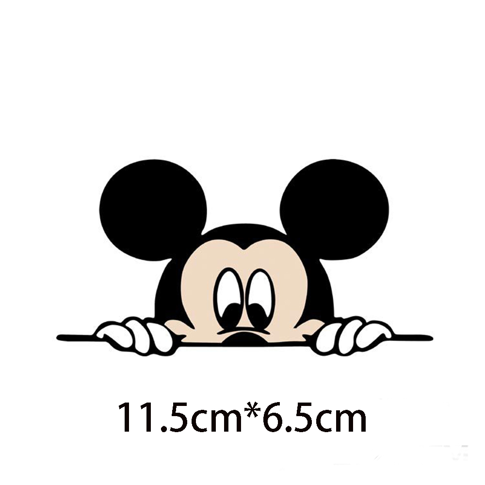 Image 2 - Funny Mickey Mouse Car Sticker Cut Peeping Cover cute cartoon colorful personality fashion stickers window and car tail-in Car Stickers from Automobiles & Motorcycles