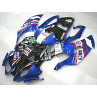 Injection mold plastic fairing kit For YAMAHA YZF R6 2008 2013 2014 blue black aftermarket fairings set YZFR6 08 14 JL57