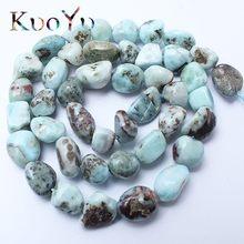 Naturalny nieregularny larimar kamień koraliki luźne koraliki w kształcie do tworzenia biżuterii zestaw do robienia bransoletek naszyjnik 15