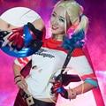 The Dark Knight Joker Harley Quinn Cosplay Guantes Guantes Tamaño Libre Trajes Superestrella Ciudad