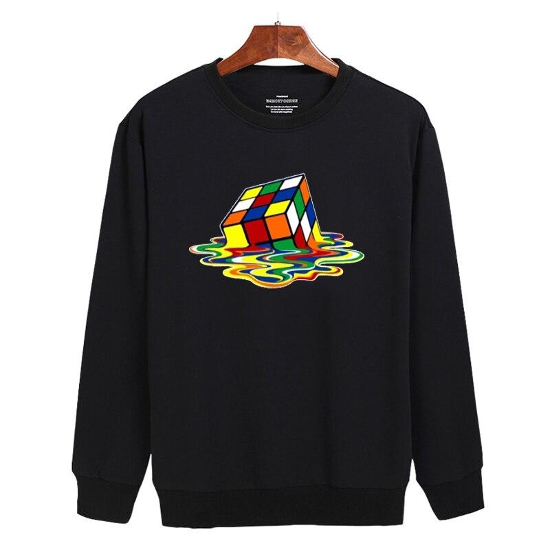 Melted Cube Funny Black/Gray Mens Hoodies And Sweatshirts 3xl With Hoodies Sweatshirt Men Brand Fashion Xxs