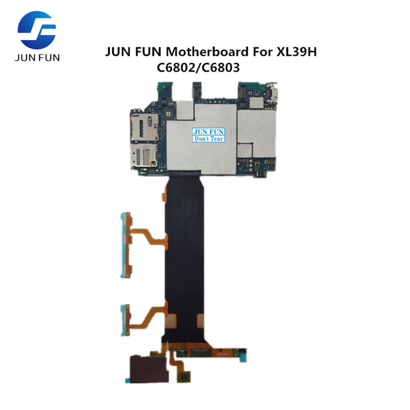 JUN FUN Full Working Unlocked For Sony Xperia Z Ultra Xl39h C6802 C6803 Motherboard Mainboard Logic Mother Board Plate