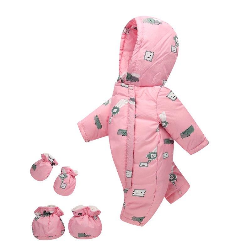 Bébé bas barboteuse bébé noël cadeau mignon caractère blanc canard bas bébé barboteuses à capuche bébé tenue épais ver combinaison