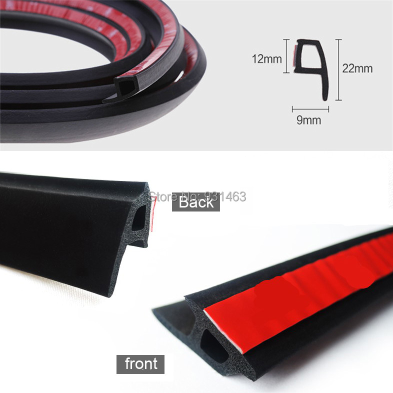 4 Meter/pcs P Type Car Seal Strip Auto Door Window Trunk Seal Dustproof Sound Insulation 3m RUBBER Sticky Tape