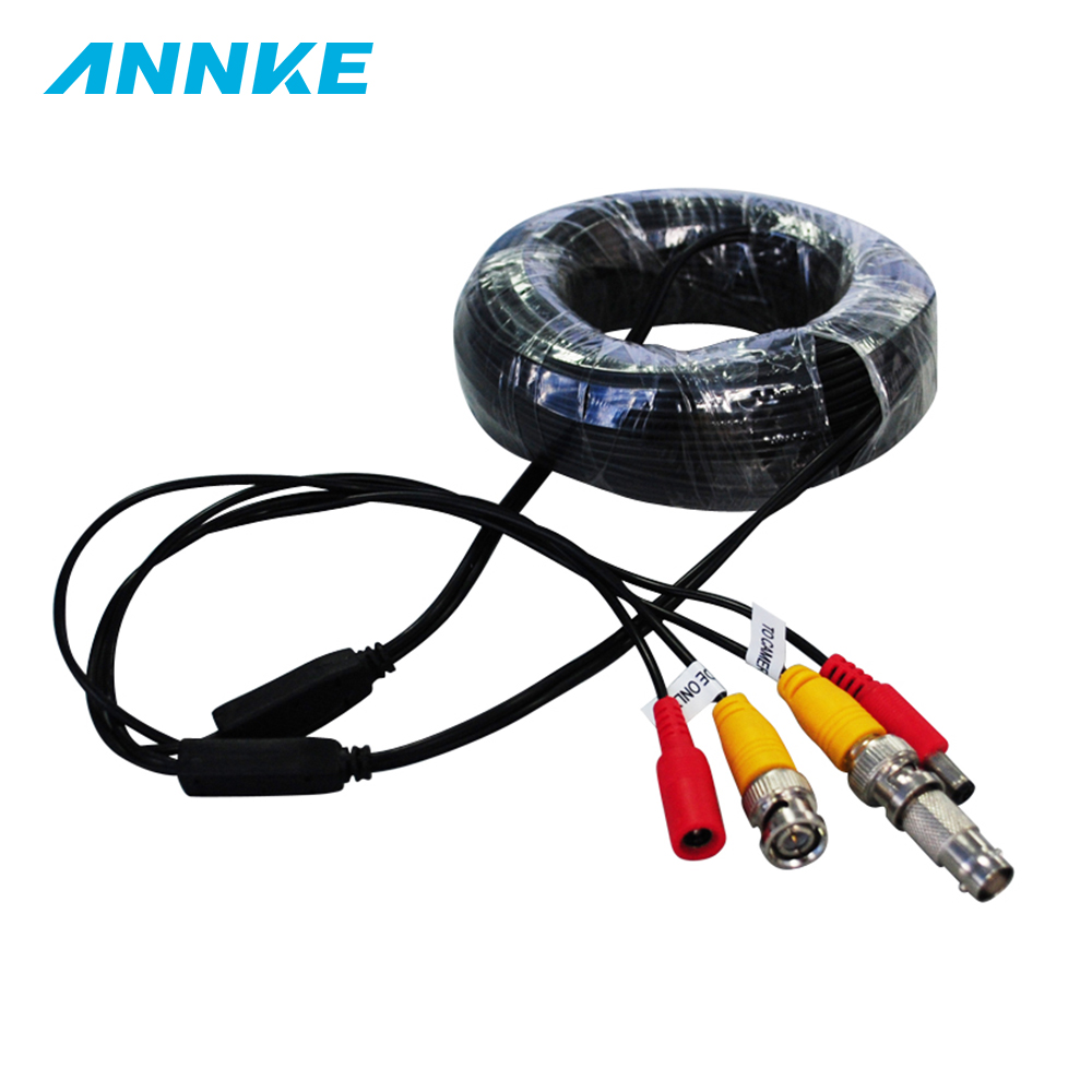 Annke Home Security System 18m Cctv Cable Bnc Dc Plug For Wiring Camera And