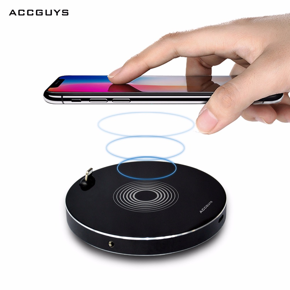 ACCGUYS Wireless Charger for iPhone 8 X 8 Plus with 3 5mm Aduio Adapter 8p Wireless