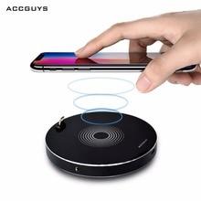 Accguys Беспроводной Зарядное устройство для iphone 8/X/8 Plus с 3.5 мм aduio адаптер + 8 P Беспроводной зарядка для Samsung Galaxy S8/S7/S8 pad