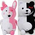 Anime Danganronpa Monokuma Bear Soft Dolls Plush Toy Black& Pink Peluche Cartoon Figure Toy Kids Gifts