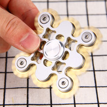 Do Dower EDC Hand Spinner Fidget Spinning Top Brass Aluminum Stress Reliever Fidget Spinner Hand Educational Toys for Kids Adult