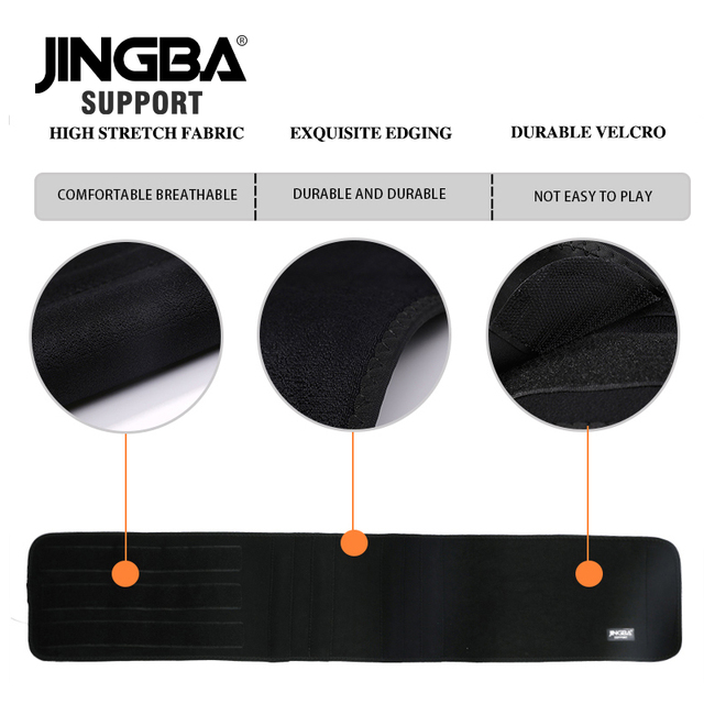 JINGBA SUPPORT Waist trimmer Support Slim fit Abdominal Waist sweat belt Sports Safety Back Support Sports protective gear 4