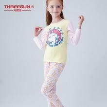 Thermal Underwear Tuski Cartoon Boys Girls Long Johns Winter Warm Sleeve Cotton Children 3-14 Years Kids Clothes