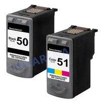 1Set Ink Cartridges PG 50 CL 51 PG50 CL51 For Canon Pixma IP2200 IP6210D IP6220D MP150