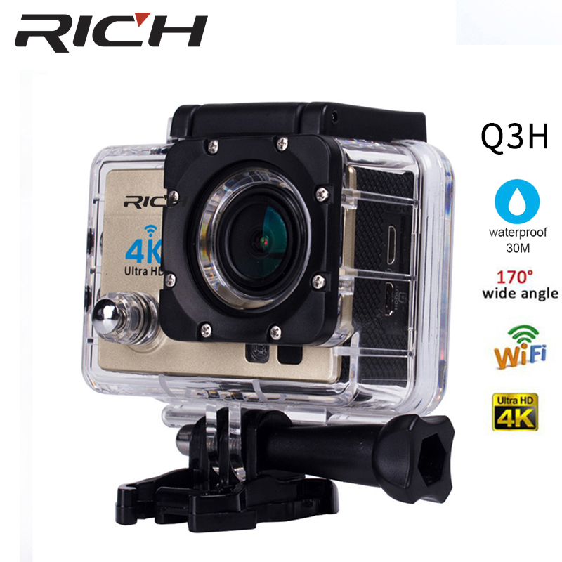 RICH 4K Action Camera SJ Original 8000 R Remote WiFi 2.0 LCD 170D Len Helmet Cam Underwater go Waterproof pro Camcorder 1080P 2017 arrival original eken action camera h9 h9r 4k sport camera with remote hd wifi 1080p 30fps go waterproof pro actoin cam