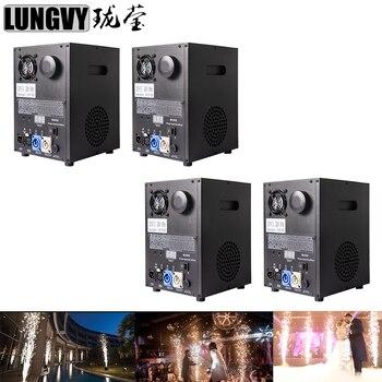 شحن مجاني 4 قطعة/الوحدة عن بعد DMX التحكم المرحلة الباردة شرارة الألعاب النارية آلة سباركلي للخارجية داخلي حفل زفاف