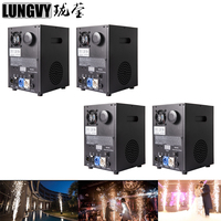 Free Shipping 4pcs/lot Remote DMX Control Stage Cold Spark Fireworks Sparkular Machine For Outdoor Indoor Wedding Celebration