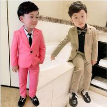 Pink/ apricot Boys Suits for Weddings Arrival Solid Boys Wed