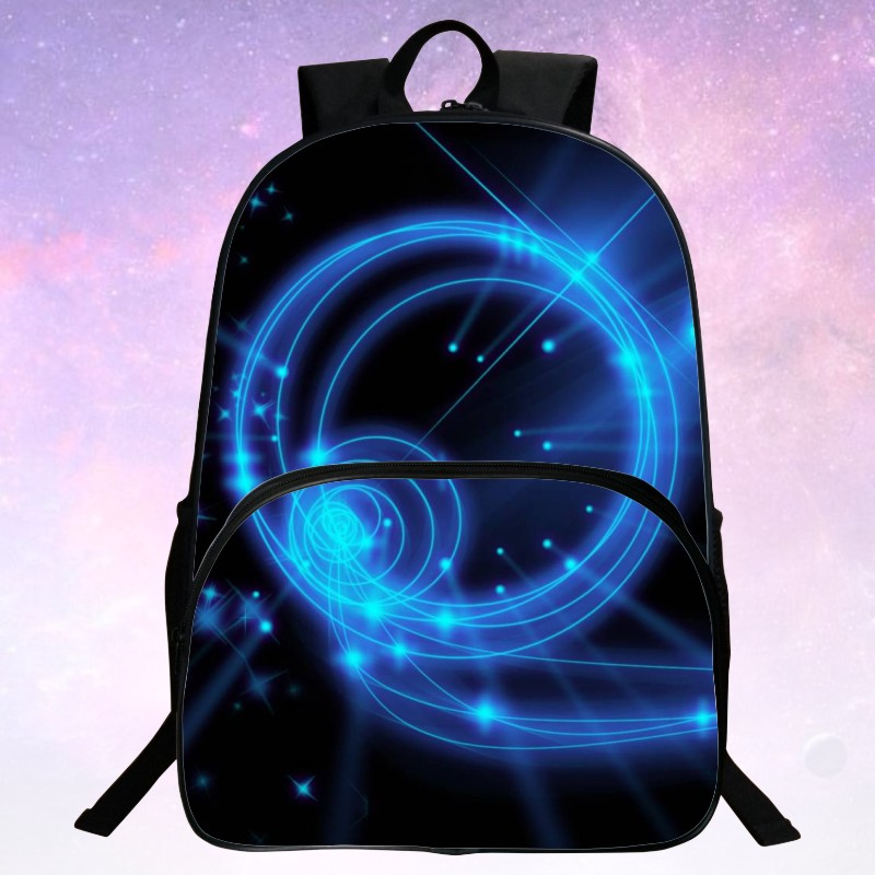 Beauty 2016 Polyester Printing Starry Sky Man Bags Black Children Backpack For Teenagers Mochila Womens School