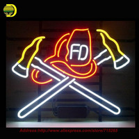 Firefighter Neon Sign Handcrafted Neon Bulbs Night Light Real Glass Tube Iconic Sign Lamp Neon Bulb
