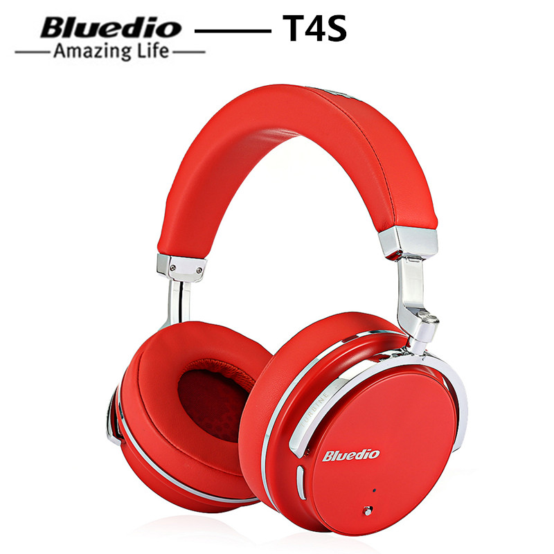 Bluedio T4S Headphone Active Noise Cancelling Wireless Bluetooth Headphones Wireless Headset Earphone With Microphone For Phone niub5 active noise cancelling bluetooth headphones with wireless stereo headset deep bass headphones with microphone for phone