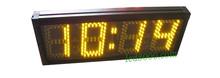 Darmowa wysyłka 5 cal bursztynowy kolor minutnik ledowy (HST4-5A) tanie tanio DIGITAL Zegary ścienne Cyfrowy Luminova HST4-5A countdown timer Metal