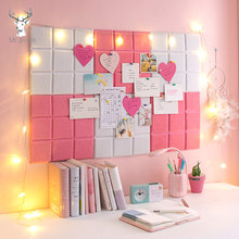 2pcs/set Color Felt Letter Board Message Board Home Office Decor Board Photo Display Board Wall Decoration Business Card Display(China)