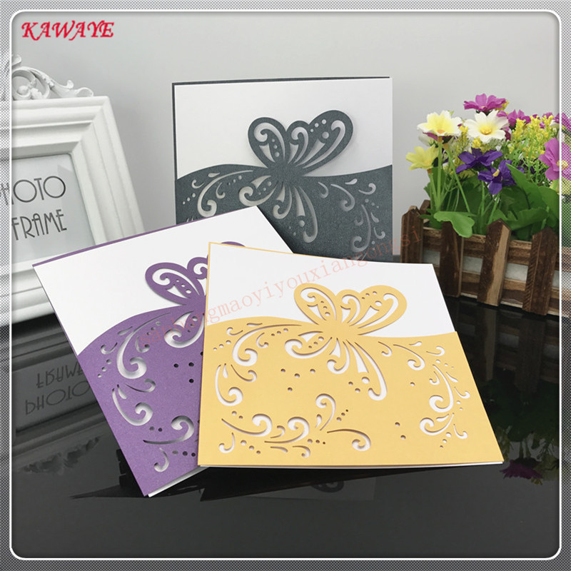 24 pcs Wedding Party Supply Banquet Romantic Laser Cut Card scrapbooking Cpaintings by numbers on canvasard 8ZXH13