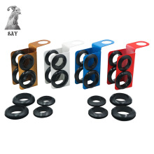 SY Metal&Silicone Hookah Shisha Hose Holder Accessories,Max Dia.23mm Min Dia.19mm. Can Hold 2 Hose,Prevent wear