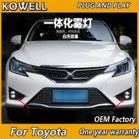 KOWELL Car Styling Fog Lamp for Toyota Camry Corolla Highlander MARK LED Fog Light Angel Eye Fog Lamp LED DRL 3 function model