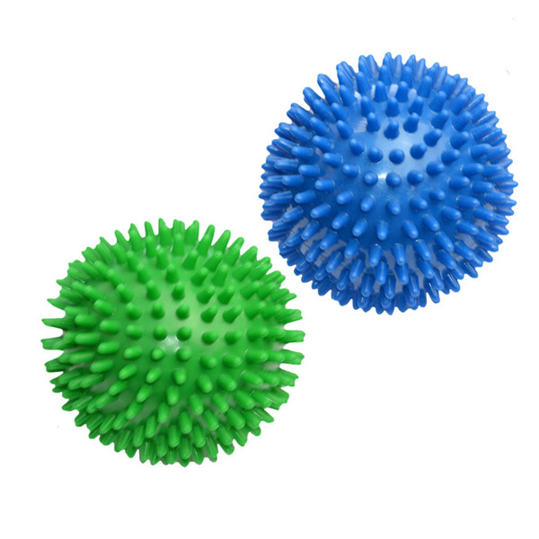 KIFIT Newest 6cm Spiky Massage Ball Hand Foot Body Pain Stress Massager Relief Trigger Point Health Care Sport Toy Random Color excellent quality 2 rollers relax finger joints hand massager fingers massage tool random color