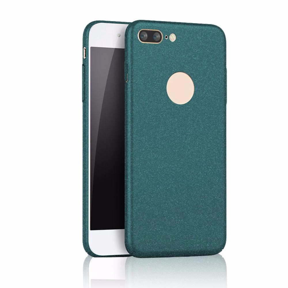 Matte Frosted Thin Shell Case Full Protect Phone Cover For iPhone7 plus Green