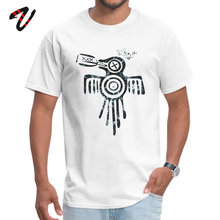 Casual Drinky Aztec Spirit Crow O-Neck T Shirt Labor Day Tops & Tees Lenin Sleeve for Students Retro 100% Anime Party Tshirts