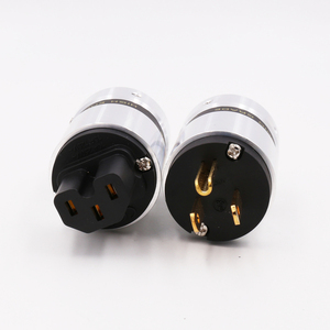 Image 5 - X OEM  Hifi audio gold plated US AC power plug  extension adapter