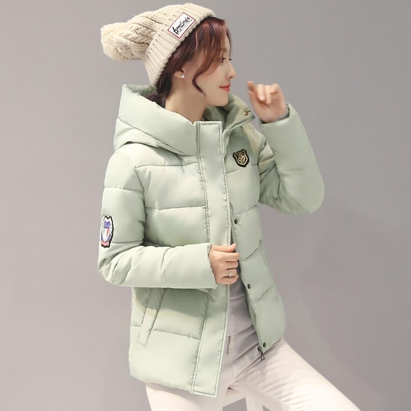 2017 bianco Inverno Cappuccio Modo Red blu rose Navy Parka Cotone Studenti Donne Nuove verde borgogna Il Rosa Imbottito Autunno colore 110 Con Giacche grigio Slim Corto Di Nero Giacca gxwrg8Z7q