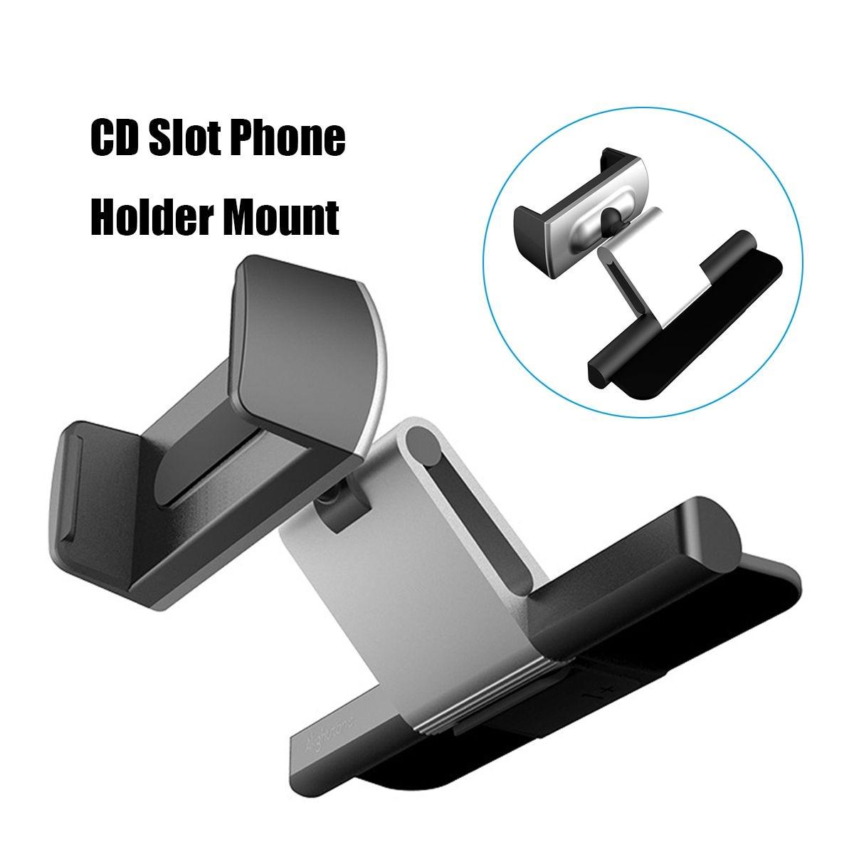 Support universel de support de support de téléphone portable de support de berceau de bâti de fente de CD de voiture en aluminium pour l'iphone X pour le support gps de voiture de Samsung