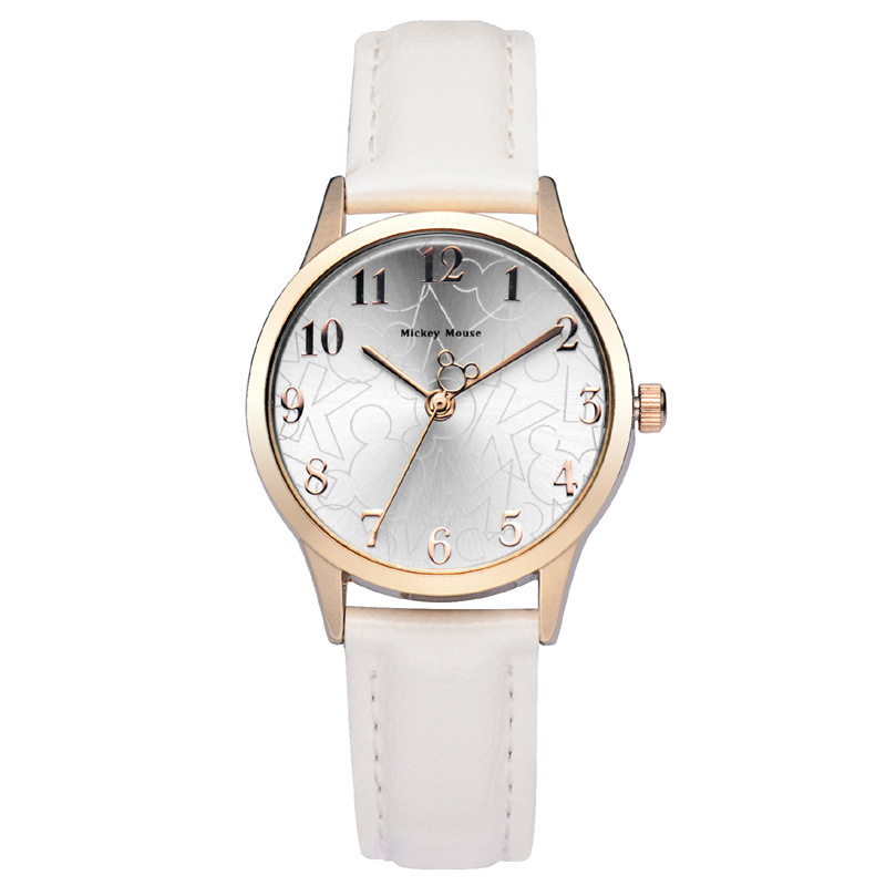 Authentic Disney Brand Luxury Women Watches 18k Real Gold Plated