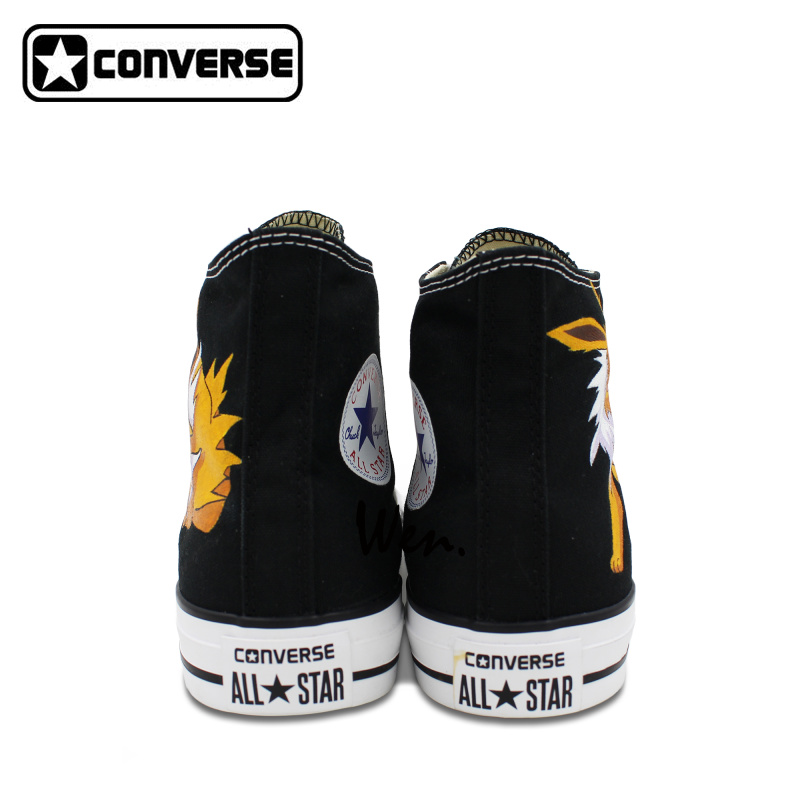 all star shoes for girls. aliexpress.com : buy fox design sneakers girls boys converse all star jolteon pokemon shoes women men hand painted high top canvas from for