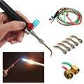 O envio gratuito de mini tocha de soldagem de gás de Oxigênio & Acetileno com 5 dicas usado em jóias ferramentas e instrumentos dentários