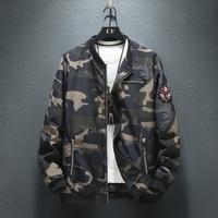 Plus 9XL 8XL 7XL Mens jackets and coats Bomber Jacket Men hoodies zipper Coat Camouflage Pilot Men Wind Breaker jacket