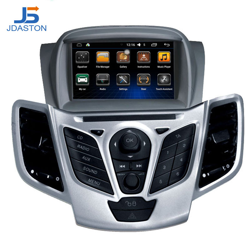 цена на JDASTON Android 6.0 2 Din Car Radio For Ford Fiesta 2008 2009 2010 2011 2012 2013 2014 2015 Car Multimedia GPS Video DVD Player