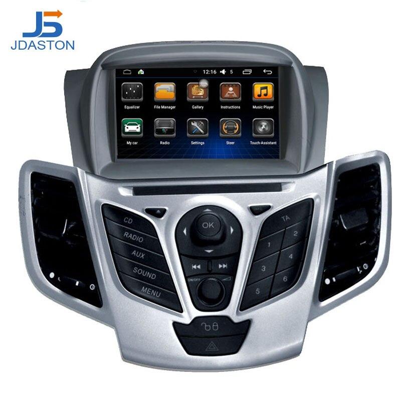 JDASTON Android 6.0 2 Din Car Radio For Ford Fiesta 2008 2009 2010 2011 2012 2013 2014 2015 Car Multimedia GPS Video DVD Player
