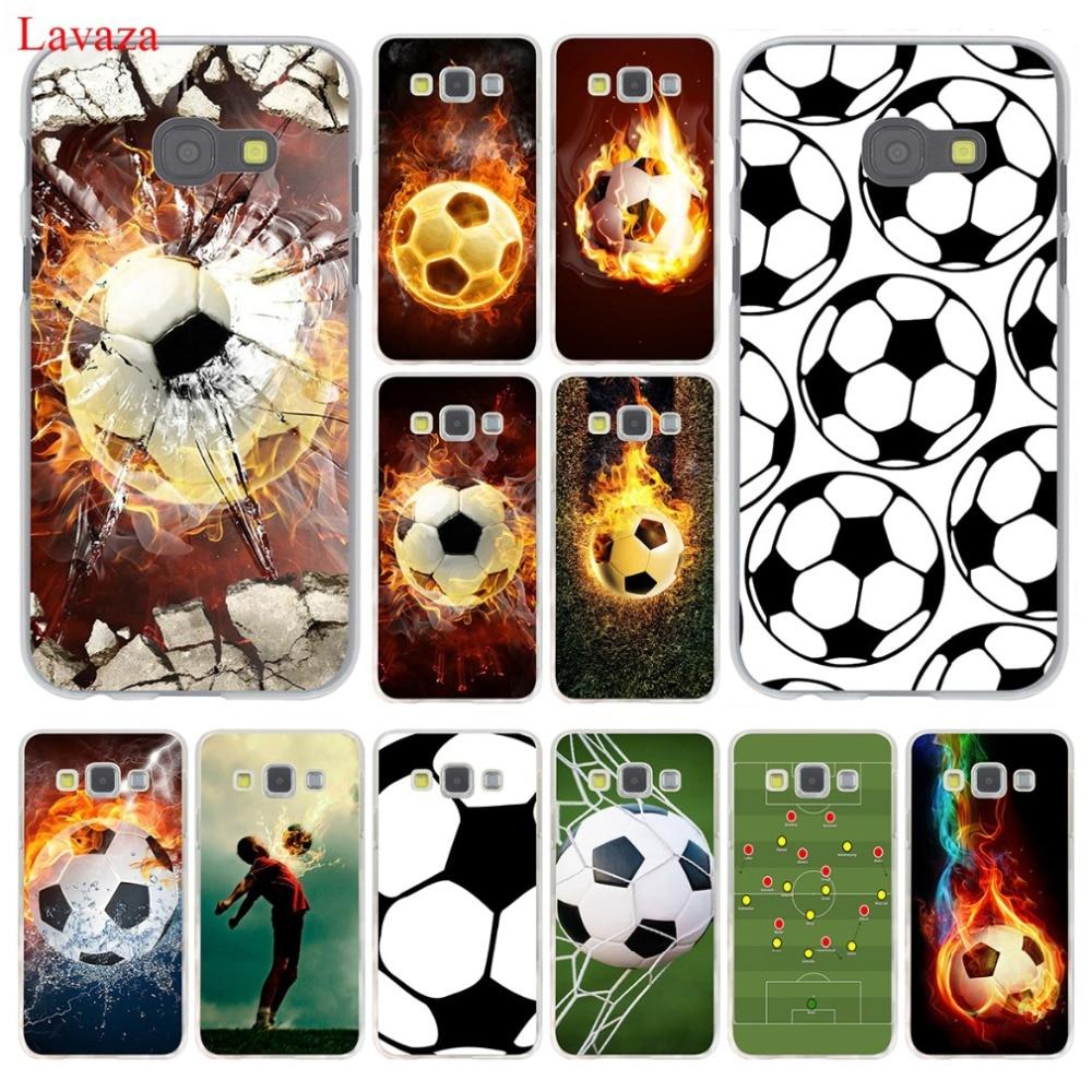Galleria fotografica Lavaza Fire Football Soccer Ball Hard Case Cover for Samsung Galaxy A3 A5 J3 J5 J7 2015 2016 2017 & Grand Prime Note 2 3 4 5