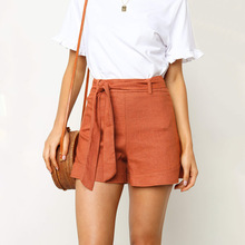 Fashion Women Shorts Straight Sexy Strap Casual Solid Color Wash Cotton Hot Summer Silk Slim Beach