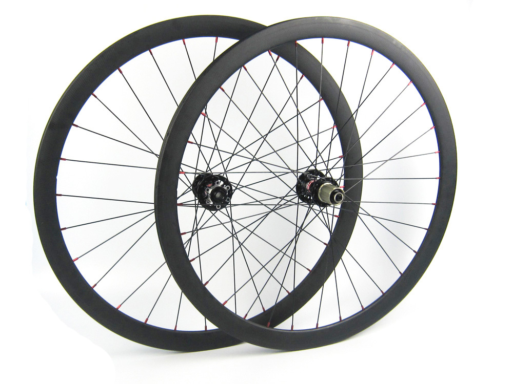 Front 15mm thru axle hub rear 135*10mm skewer carbon cyclocross bike wheel 700C 38mm depth 23mm width 700C disc brake chosen aluminum mountain bike hubs set wheel hub front and rear skewers quick releas disc brake hub 4 bearings 90 ring 32 hole