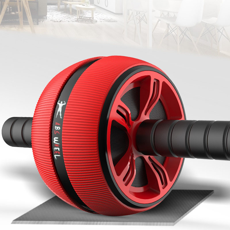 Rouleau de roue abdominale rouleau d'entraînement de base équipement d'entraînement Abdominal hommes musculation exercice Fitness Gym avec genouillère