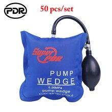 50 個pdrエアバッグポンプウェッジ車のオープニングツール車のドアロック枕ポンプウェッジ自動空気wedgeエアバッグロックオープニングツール